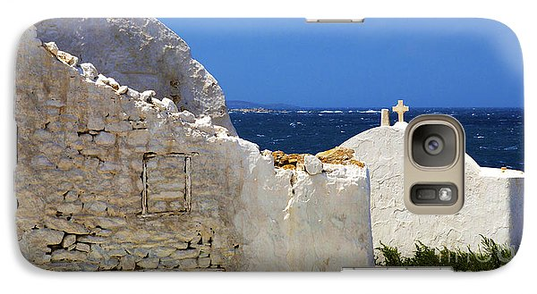 Galaxy Case featuring the photograph Architecture Mykonos Greece 2 by Bob Christopher