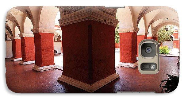 Galaxy Case featuring the photograph Archway Paintings At Santa Catalina Monastery by Aidan Moran