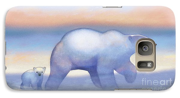 Arctic Bears, Journeys Bright Galaxy S7 Case by Tracy Herrmann