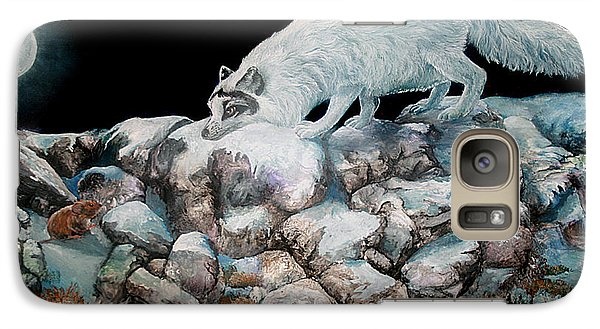 Galaxy Case featuring the painting Arctic Encounter by Sherry Shipley
