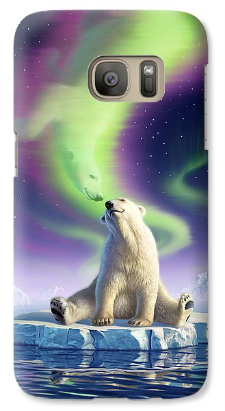 Bear Galaxy S7 Case - Arctic Kiss by Jerry LoFaro