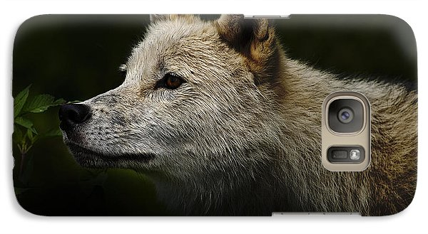 Galaxy Case featuring the photograph Arctic Wolf Portrait by Michael Cummings