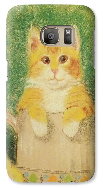Galaxy Case featuring the drawing Are You Sure It's Ok To Be In Here? by Denise Fulmer