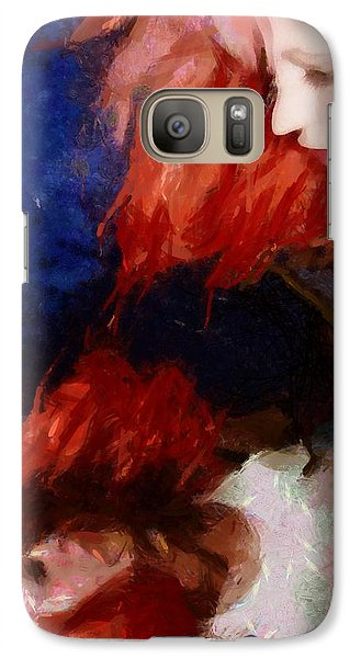 Galaxy Case featuring the digital art Are You There My Mirror Twin by Gun Legler