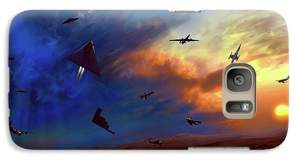 Galaxy Case featuring the painting Area 51 Groom Lake by Dave Luebbert
