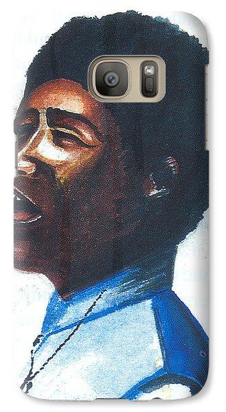Galaxy Case featuring the painting Aretha Franklin by Emmanuel Baliyanga