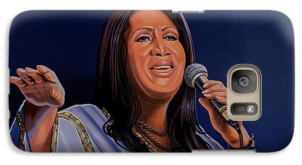 Harlem Galaxy S7 Case - Aretha Franklin Painting by Paul Meijering