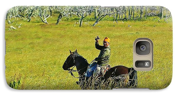 Galaxy Case featuring the photograph Argentina Gaucho by Michele Penner