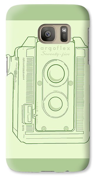 Galaxy Case featuring the digital art Argoflex Green by Christina Lihani