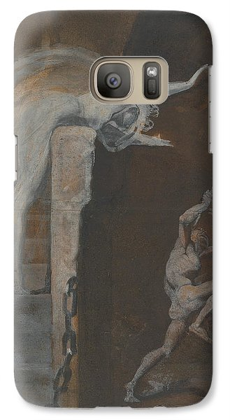Ariadne Watching The Struggle Of Theseus With The Minotaur Galaxy S7 Case by Henry Fuseli
