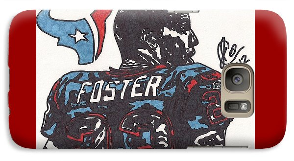Galaxy Case featuring the drawing Arian Foster 2 by Jeremiah Colley