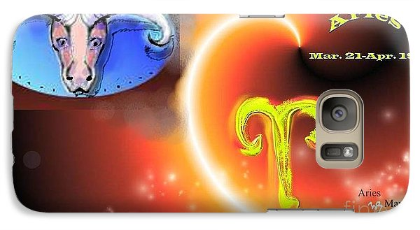 Galaxy Case featuring the painting Aries by The Art of Alice Terrill
