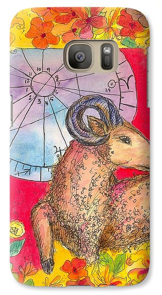Galaxy Case featuring the painting Aries by Cathie Richardson