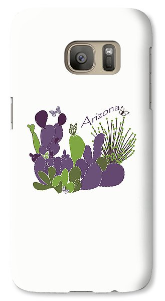 Galaxy Case featuring the digital art Arizona Cacti by Methune Hively