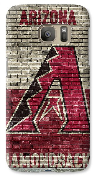 Arizona Diamondbacks Brick Wall Galaxy Case by Joe Hamilton