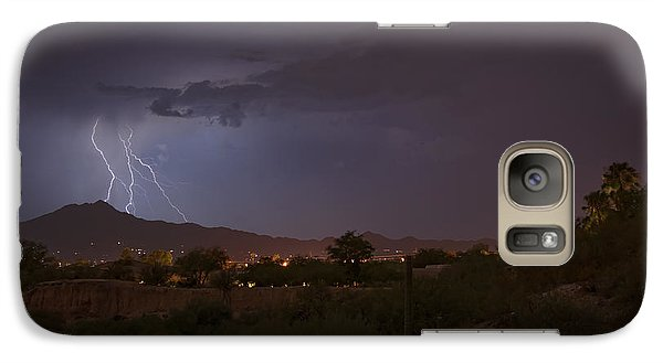 Galaxy Case featuring the photograph Arizona Monsoon Lightning by Dan McManus