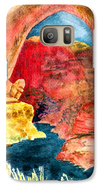 Galaxy Case featuring the painting Arizona Rainbow by Eric Samuelson