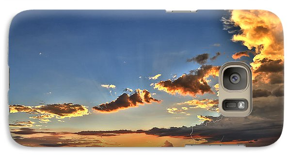 Galaxy Case featuring the photograph Arizona Sunset Storm by James Menzies