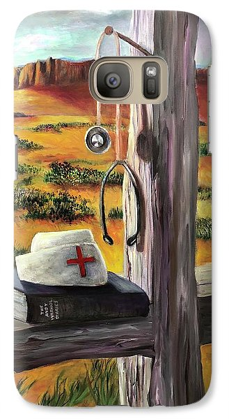 Galaxy Case featuring the painting Arizona The Nurse And Hope by Randol Burns
