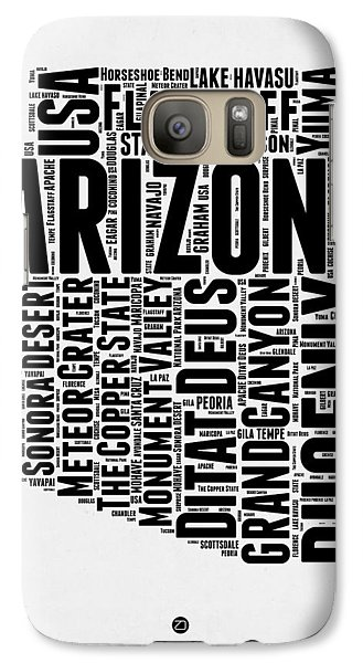 Arizona Word Cloud Map 2 Galaxy S7 Case by Naxart Studio