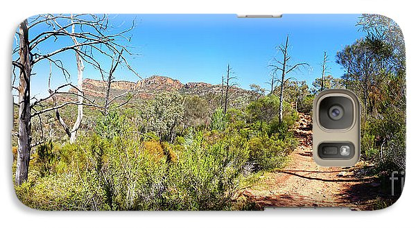 Galaxy Case featuring the photograph Arkaroo Rock Hiking Trail.wilpena Pound by Bill Robinson