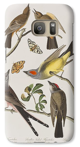 Flycatcher Galaxy S7 Case - Arkansaw Flycatcher Swallow-tailed Flycatcher Says Flycatcher by John James Audubon