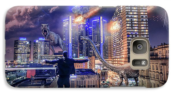 Galaxy Case featuring the photograph Armageddon Detroit by Nicholas Grunas