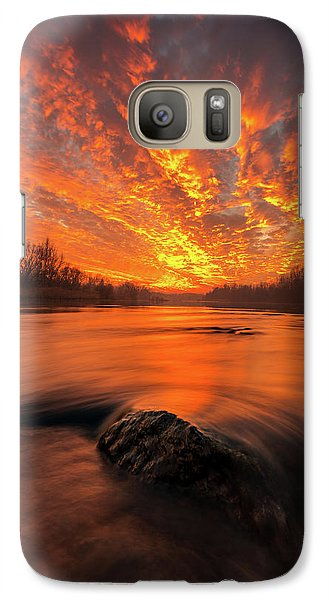 Galaxy Case featuring the photograph Fire On Sky by Davorin Mance
