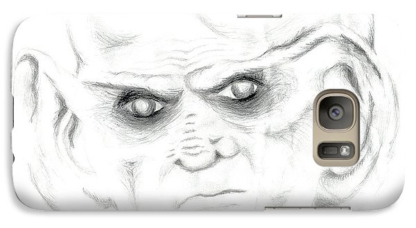 Galaxy Case featuring the drawing Armin by Kim Sy Ok