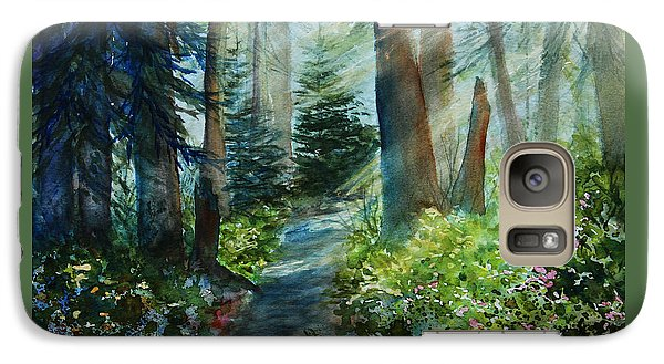 Galaxy Case featuring the painting Around The Path by Kerri Ligatich
