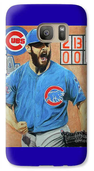 Galaxy Case featuring the drawing Arrieta No Hitter - Vol. 1 by Melissa Goodrich