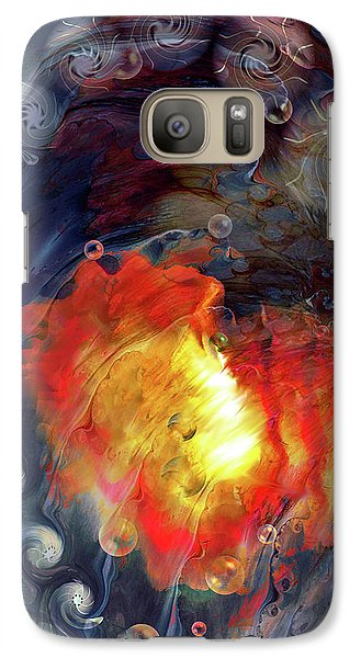 Galaxy Case featuring the digital art Arrival by Linda Sannuti