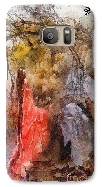 Galaxy Case featuring the painting Arrival by Mo T