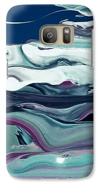 Galaxy Case featuring the painting Art Abstract by Sheila Mcdonald