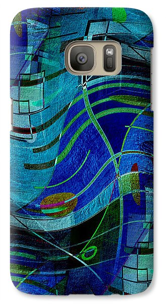 Galaxy Case featuring the digital art Art Abstract With Culture by Sheila Mcdonald