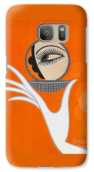 Art Deco Fashion Illustration Galaxy Case by Tina Lavoie