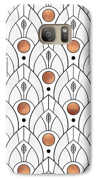 Art Deco Leaves 1 Galaxy Case by Elisabeth Fredriksson