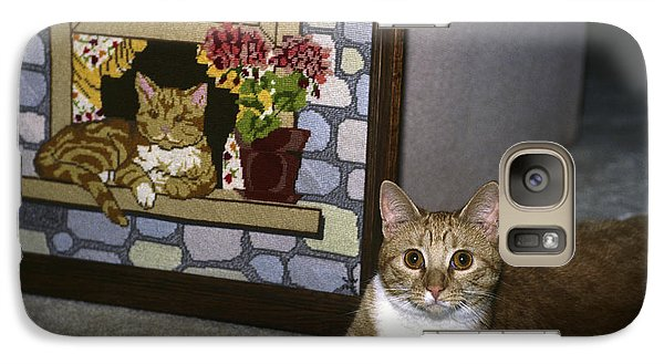Galaxy Case featuring the photograph Art Imitates Life by Sally Weigand