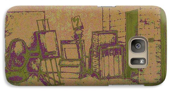 Art Intro Mixed Media Galaxy S7 Case