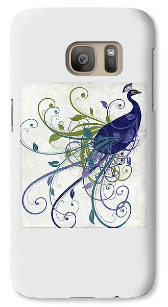 Peacock Galaxy S7 Case - Art Nouveau Peacock I by Mindy Sommers