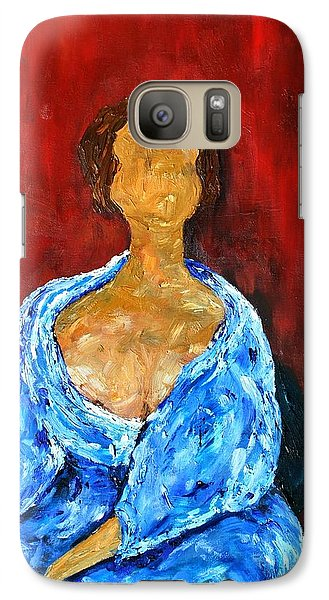 Galaxy Case featuring the painting Art Study by Reina Resto