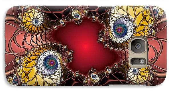 Galaxy Case featuring the digital art Artdeco by Karin Kuhlmann
