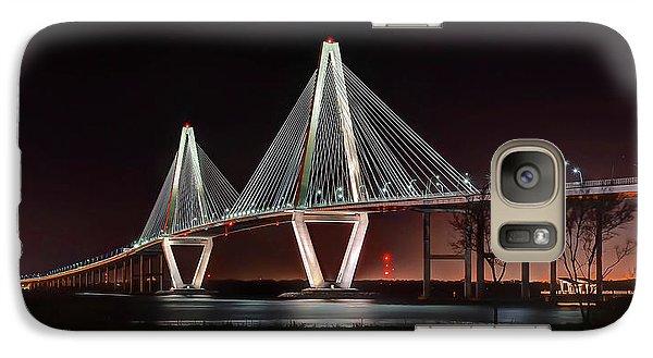 Galaxy Case featuring the photograph Arthur Ravenel Jr. Bridge At Midnight by George Randy Bass