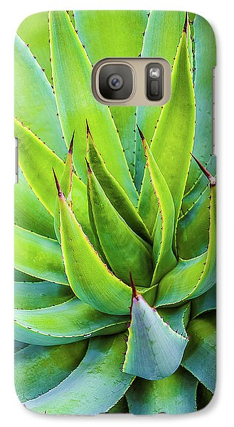Galaxy Case featuring the photograph Artichoke Agave Desert Plant by Julie Palencia