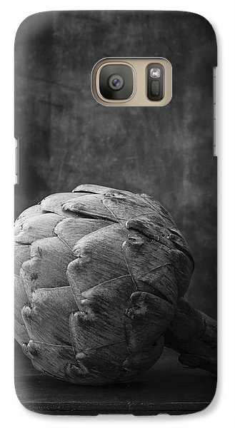 Artichoke Black And White Still Life Galaxy S7 Case by Edward Fielding