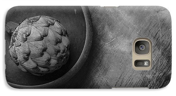 Artichoke Galaxy S7 Case - Artichoke Black And White Still Life Three by Edward Fielding