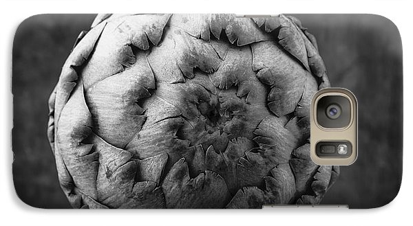 Artichoke Galaxy S7 Case - Artichoke Black And White Still Life Two by Edward Fielding