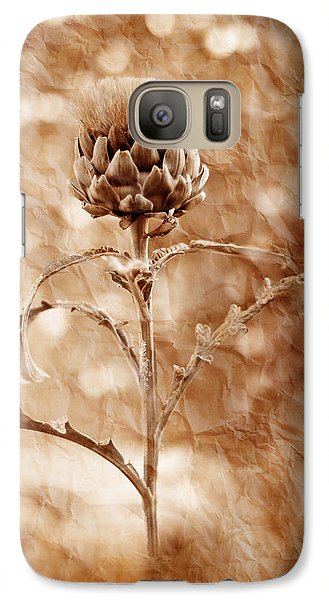 Artichoke Bloom Galaxy S7 Case by La Rae  Roberts