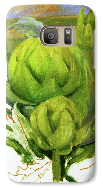 Artichoke Galaxy S7 Case - Artichoke  Unfinished by Maria Hunt