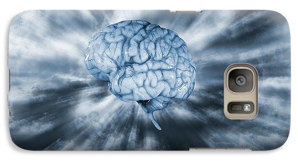 Galaxy Case featuring the photograph Artificial Intelligence With Human Brain by Christian Lagereek